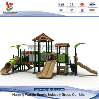 Playsets Outdoor Treehouse con scivolo per cortile