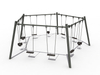 Adventure Park Outdoor Playground Steel Swing Playset per bambini